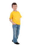 Boy in yellow t-shirt Royalty Free Stock Image