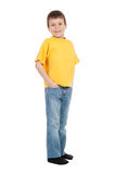 Boy in yellow t-shirt Royalty Free Stock Photography