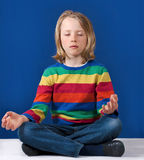 Boy yoga practice Royalty Free Stock Photography