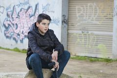 Boy young urban style Royalty Free Stock Images