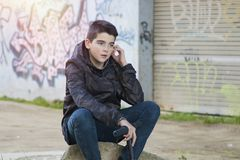 Boy young urban style Royalty Free Stock Image