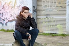 Boy young urban style Stock Images