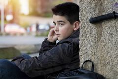 Boy young urban style Stock Image