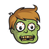 Boy Zombie Head Character Design Royalty Free Stock Photography