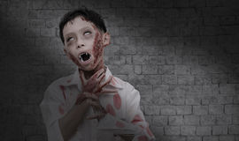 Boy in zombie make up for Halloween Royalty Free Stock Image
