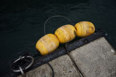 Boya amarilla Foto de archivo libre de regalías