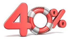 Boya de vida muestra del 40 por ciento 3D Fotografía de archivo