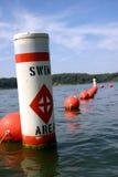 Boya del área de la nadada Fotografía de archivo libre de regalías