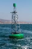 Boya verde en el puerto de Ensenada Fotos de archivo