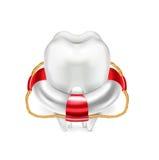 Boya y diente de vida en blanco ilustración del vector
