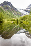 Boyabreen Glacier and lake in Norway Royalty Free Stock Photography