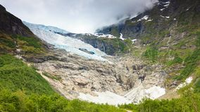 Boyabreen Glacier in Norway Stock Image