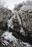 Boyana瀑布结冰 库存图片
