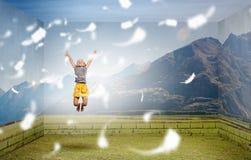 Boyante y feliz imagen de archivo libre de regalías
