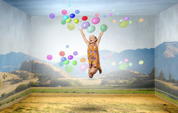 Boyante y feliz fotos de archivo