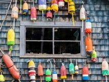 Boyas de la langosta Fotos de archivo libres de regalías