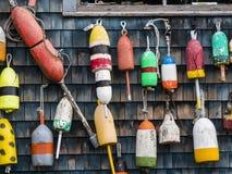 Boyas de la langosta fotografía de archivo libre de regalías