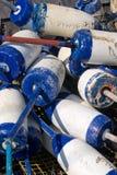 Boyas de la langosta Foto de archivo libre de regalías