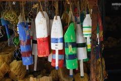 Boyas de madera Key West imágenes de archivo libres de regalías