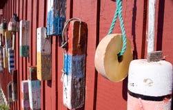 Boyas viejas de la langosta foto de archivo libre de regalías