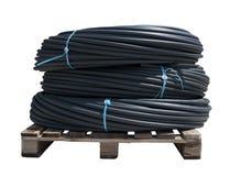Boyaux noirs de PVC image stock