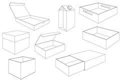 boyce 外形图 包裹的汇集 库存例证