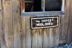 Boyce Thompson Arboretum State Park, Superior, Arizona United States. Historic Drover& x27;s wool shed at Boyce Thompson Arboretum State Park located at Superior Royalty Free Stock Images