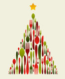 bożych narodzeń cutlery drzewo Obraz Stock