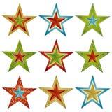 bożych narodzeń dziewięć gwiazdy wektor Zdjęcia Stock