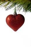 bożych narodzeń serca czerwień Obrazy Royalty Free