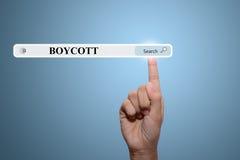 boycot Royalty-vrije Stock Foto