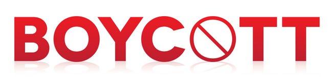 Boycott Concept Theme Illustration Royalty Free Stock Photo