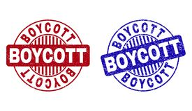 BOYCOTT grunge texturis? autour des joints de timbre illustration libre de droits