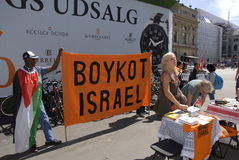 BOYCOTT ISRAEL PROTESTERS Stock Images