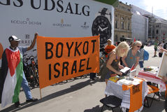 BOYCOTT ISRAEL PROTESTERS Royalty Free Stock Photo