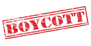 Boycott red stamp Royalty Free Stock Images