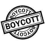 Boycott rubber stamp Stock Photo