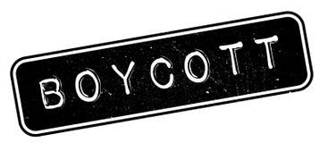 Boycott rubber stamp Royalty Free Stock Photo