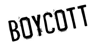Boycott rubber stamp Stock Images