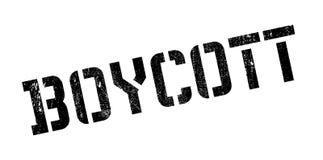 Boycott rubber stamp Stock Image