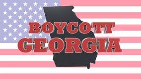 Boycott State of Georgia USA