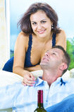 With boyfriend Stock Image