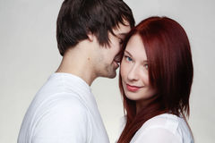 Boyfriend and girlfriend Royalty Free Stock Photos