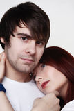 Boyfriend and girlfriend Stock Images