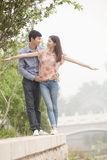Boyfriend and Girlfriend by a Canal Royalty Free Stock Photography