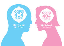 Boyfriend and girlfriend not found Stock Images