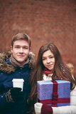 Boyfriend and girlfriend Royalty Free Stock Images