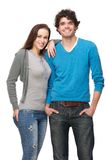 Boyfriend and Girlfriend Smiling in Studio Stock Photos