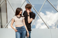Boyfriend and girlfriend spending quality time together Royalty Free Stock Images