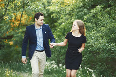Boyfriend and girlfriend together. Stock Images